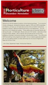 Hort Science Newsletter