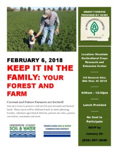 Cover photo for Soil & Water to Sponsor Keep It in the Family Workshop