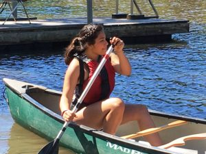Image of girl in canoe