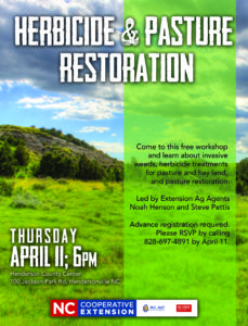 Cover photo for Herbicide and Pasture Renovation Class April 11, 2019