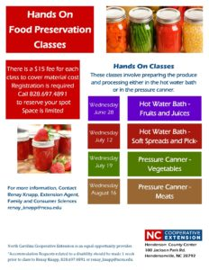 Cover photo for Hands on Food Preservation Classes