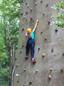 Image of child on climbing wall