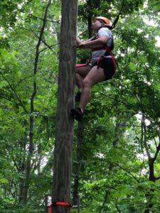 Image of girl climbing