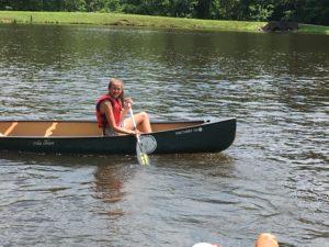 Image of girl canoeing