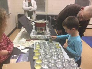 making hand cream