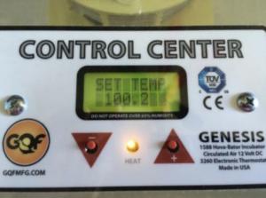 Control Center set temp indicator