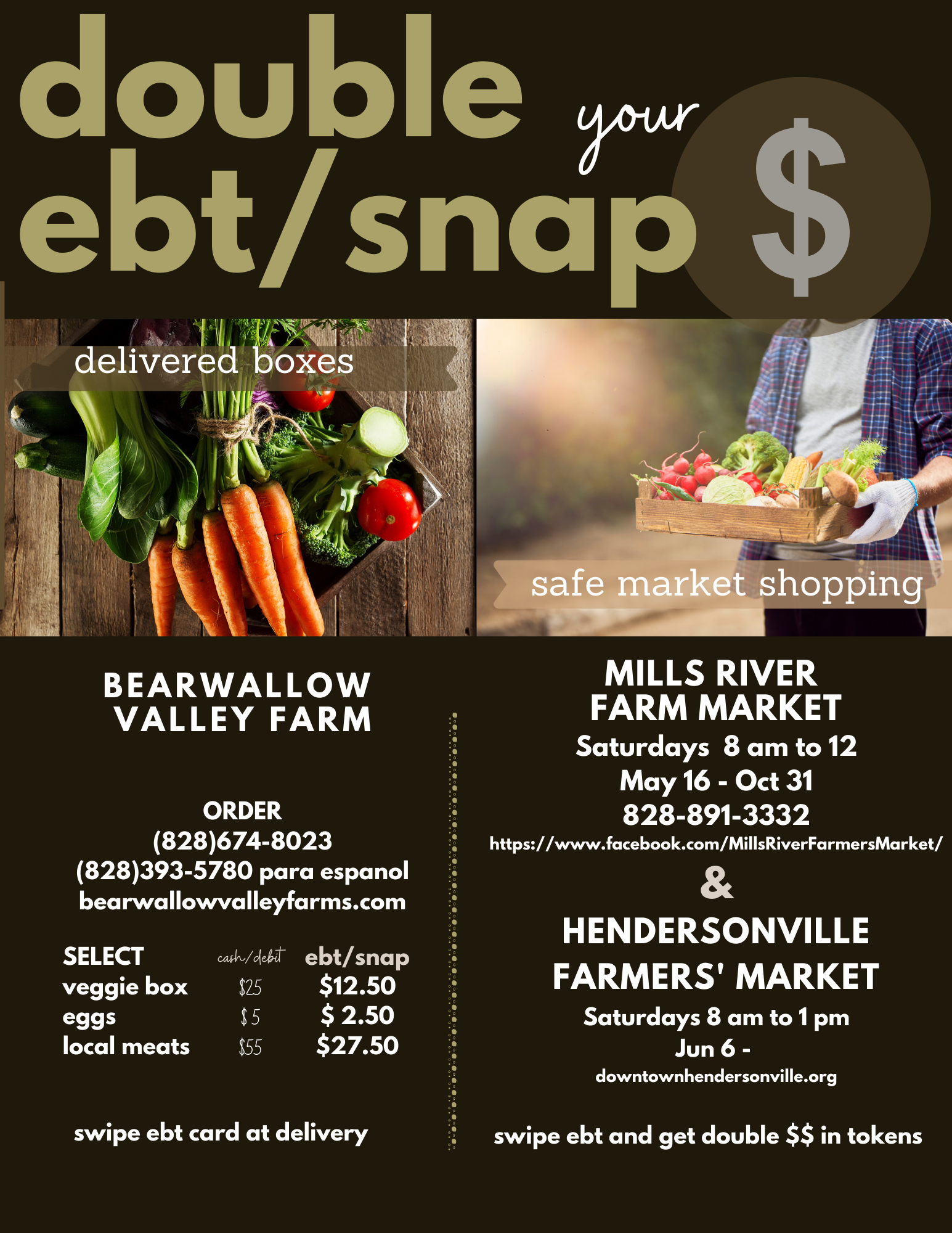 Double SNAP/EBT Dollars at Markets