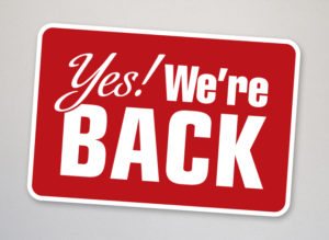 Cover photo for Welcome Back!