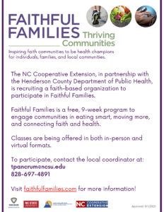 Cover photo for Faithful Families - Thriving Communities