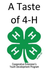 Cover photo for A Taste of 4-H
