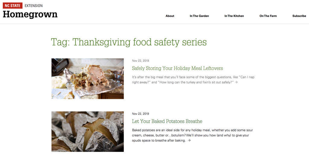 Food safety videos