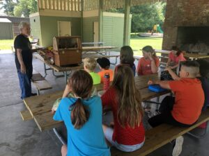 Kids at picnic table